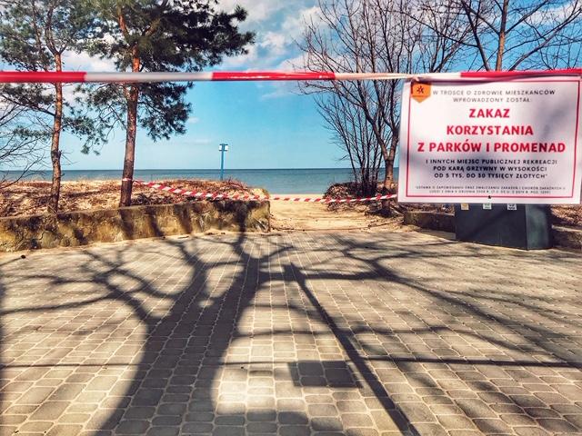 Zakaz wstępu na plaże Sopot
