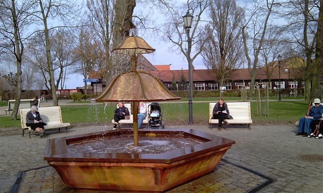 Fontanna w parku w Sopocie