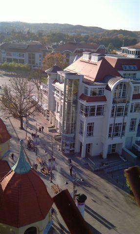 Panorama Sopotu z nadmorskiej latarni