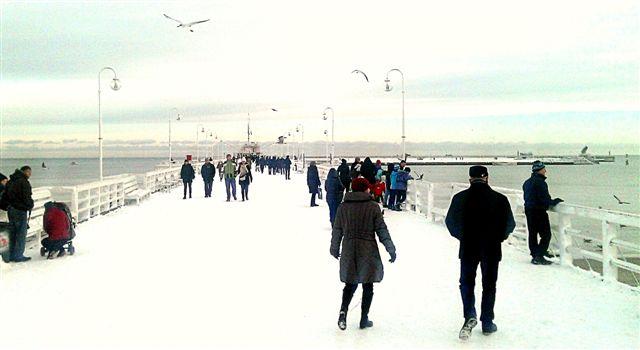 Molo w Sopocie zimą