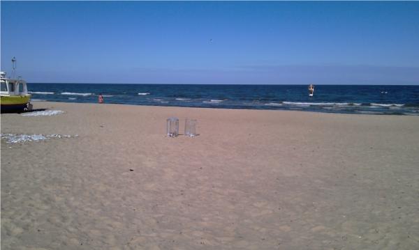 Plaża w Sopocie zimą