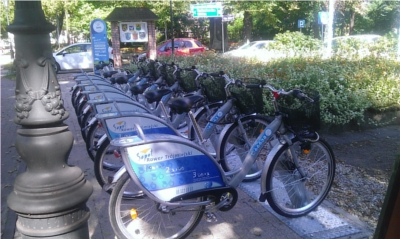 Stacja rowerowa przed Urzędem Miasta  Sopotu