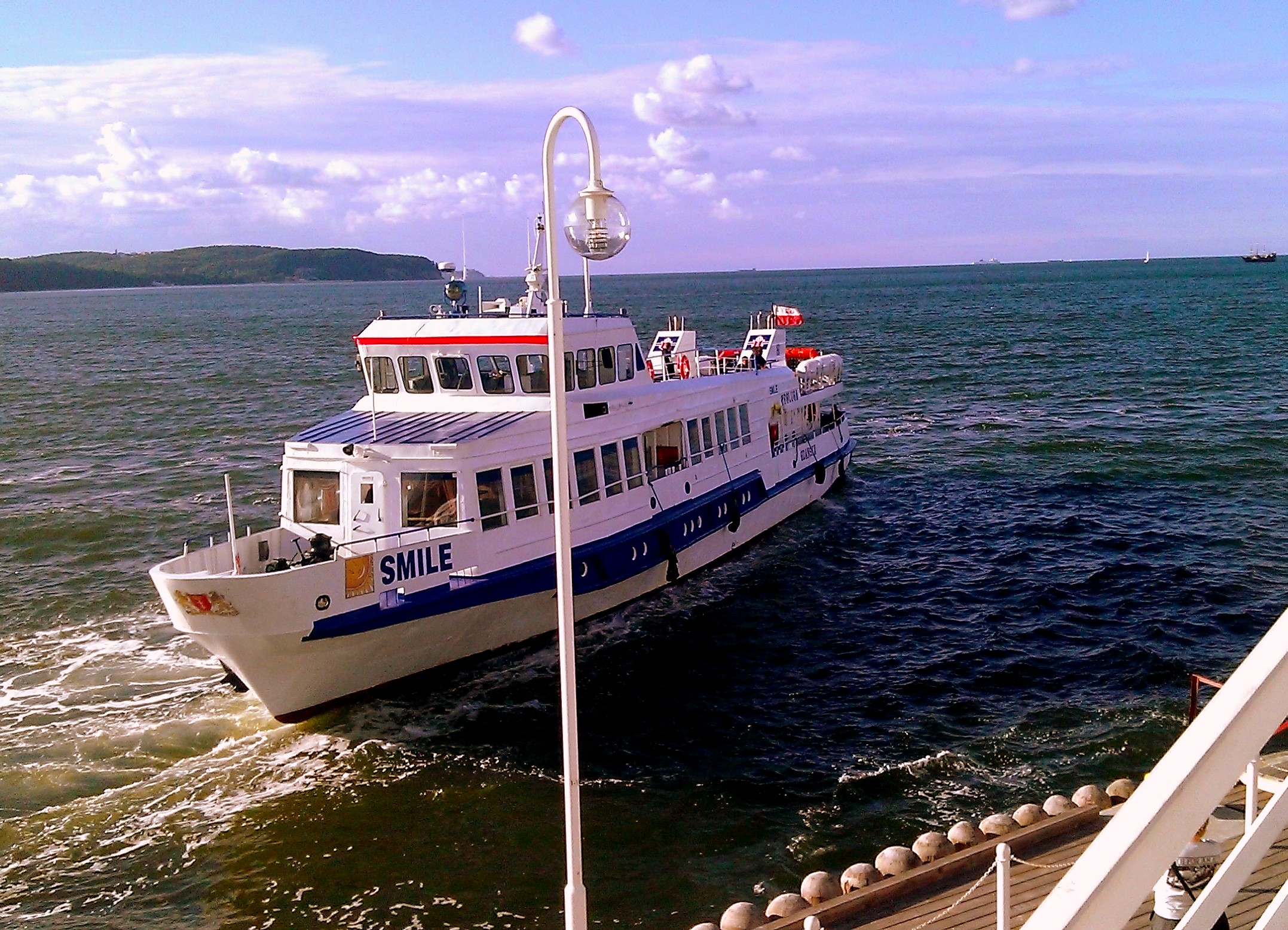 Statek przy Molo w Sopocie